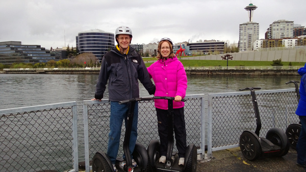 Seattle by Segway tour in front of Olympic Sculpture Park and Space Needle