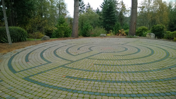 Archbishop Brunett Retreat Center at the Palisades Federal Way labyrinth