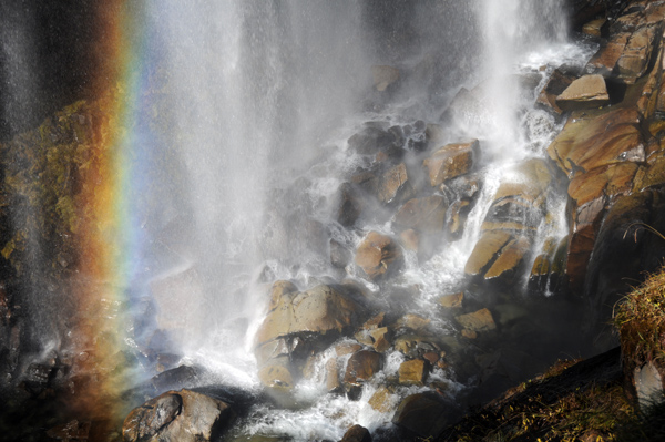 Narada Falls base rainbow in Mt Rainier National Park