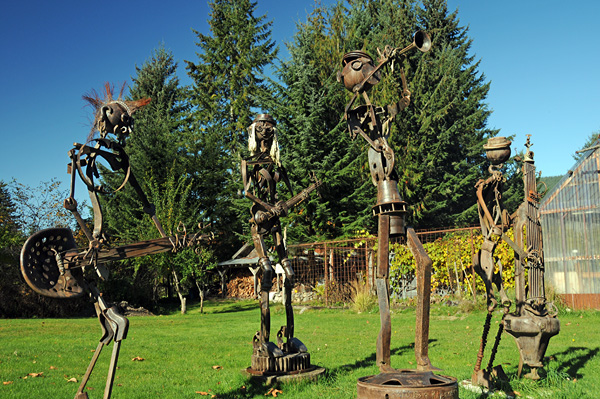 Recycled Spirits of Iron Ex Nihilo Elbe sculpture park music band