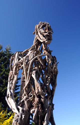 Recycled Spirits of Iron Ex Nihilo Elbe sculpture park wood man