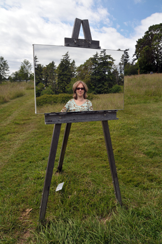 Roche Harbor Sculpture Park San Juan Islands mirror on easel