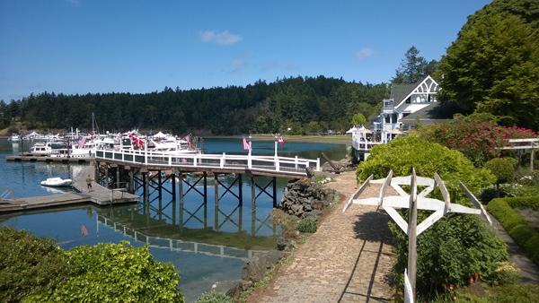 San Juan Island Roche Harbor Resort marina McMillin's Dining Room garden