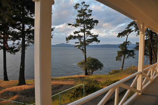 Turn Point Lightouse keeper's house porch view Stuart Island San Juan Islands