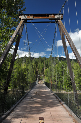 Methow River suspension bridge near Mazama