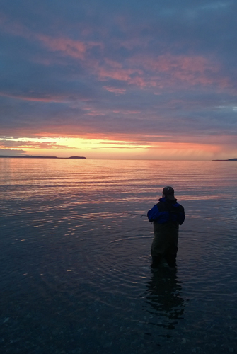 Fishing for salmon in Admiralty Bay Coupeville Whidbey Island