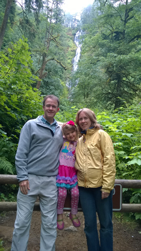 Munson Creek Falls Tillamook Oregon trail end