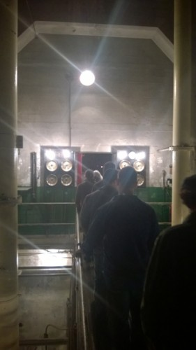 Georgetown Steam Plant Seattle Immersive Theater Supraliminal group enters dark fueling area