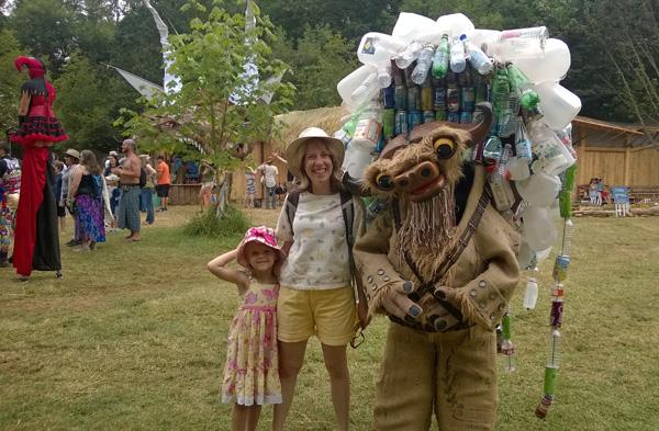 Oregon Country Fair RecyclaBull costume