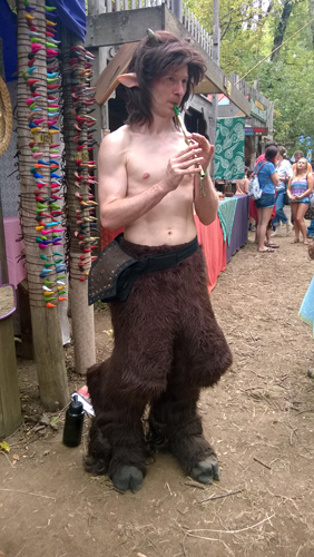 Oregon Country Fair Satyr pan flute