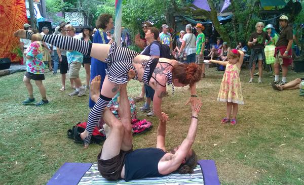 Oregon Country Fair acrobatic performers
