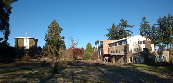 Main buildings at Archbishop Brunett Retreat and Faith Formation Center at The Palisades in Federal Way