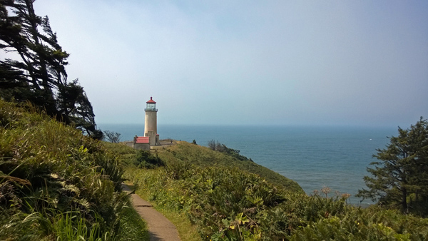 North Head Lighthouse trail in Cape Disappointment State Park