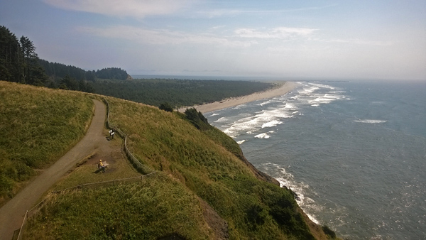 North Head Lighthouse view south over Cape Disappointment State Park