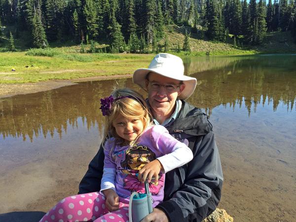 Shadow Lake at Mt Rainier National Park pumping filtered water