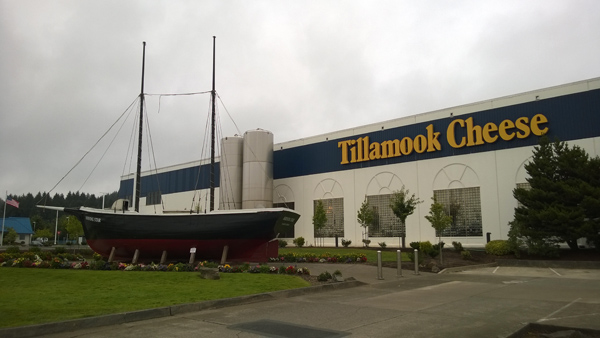 Tillamook Cheese Factory with Morning Star ship