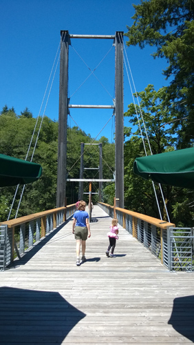 Tillamook Forest Center suspension bridge Tillamook State Forest