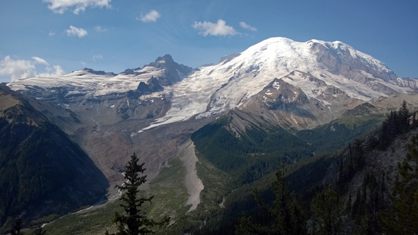 View from Emmons Glacier Overlook in Mt Rainier National Park