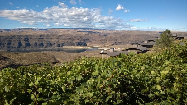 Cave B Estate Winery and Resort Cliffehouses cabins overlooking Columbia River Gorge