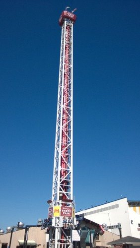 Washington State Fair in Puyallup Extreme Scream tower ride