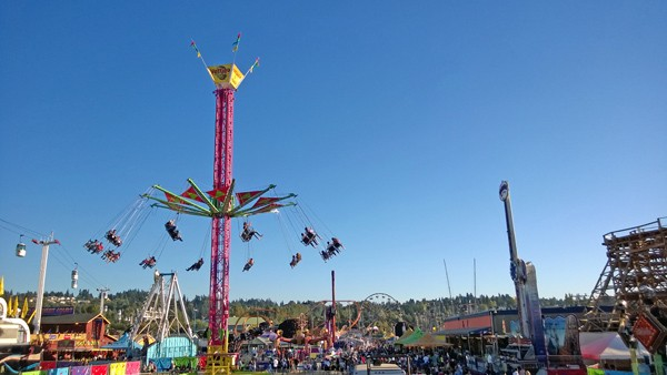 Washington State Fair in Puyallup Midway rides