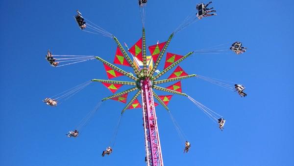 Washington State Fair in Puyallup Vertigo aerial swing ride
