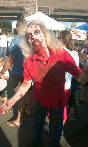 Zombie at Zombie Fest in Normandy Park