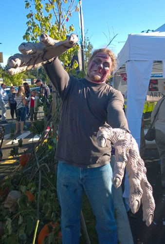 Zombie with big hands at Zombie Fest in Normandy Park
