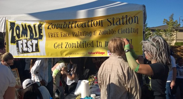 Zombification Station at Zombie Fest in Normandy Park