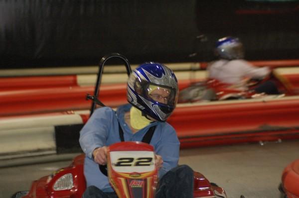 K1 Speed Indoor Go Kart Racing Bellevue Seattle leaning into turn