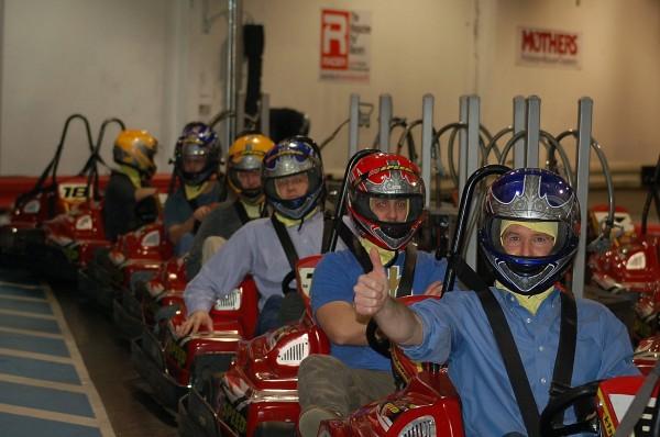 K1 Speed Indoor Go Kart Racing Bellevue Seattle start line