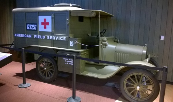 National World War I Museum American Field Service medical ambulance in Kansas City