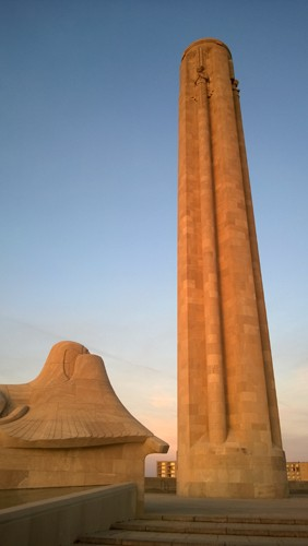 Sphinx and Liberty Memorial by National World War I Museum in Kansas City