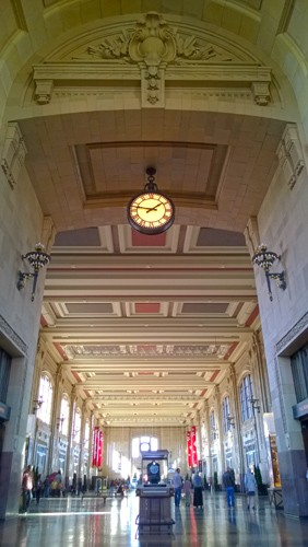 Union Station interior hallway ceiling in Kansas City