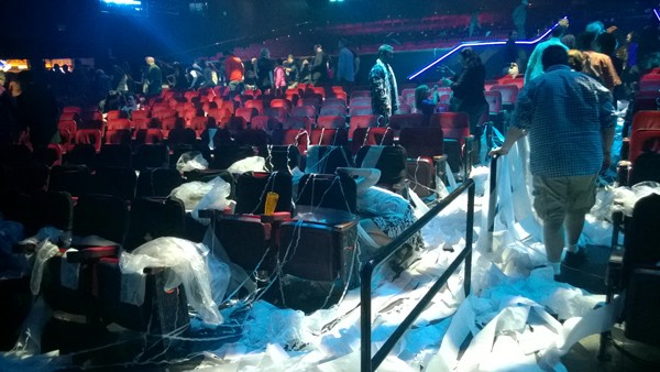 Blue Man Group Monte Carlo Las Vegas aftermath mess