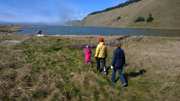 Walking by Parego's Lagoon by Ebey's Reserve in Coupeville on Whidbey Island