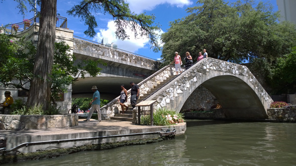 San Antonio River Walk Texas pedestrian bridge