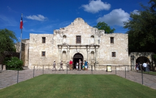 The Alamo front entrance San Antonio Texas