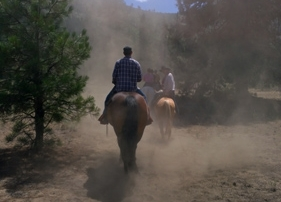 Leavenworth horseback riding on trails