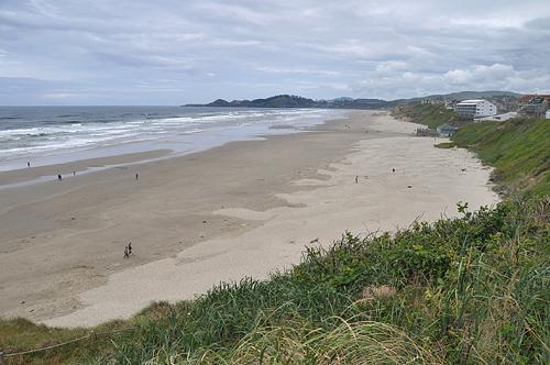 Newport Oregon Wide Open Pacific Ocean Sandy Beaches