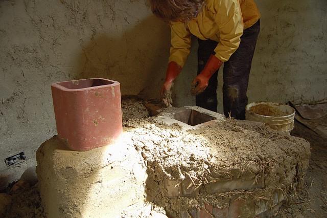 Rocket stove design construction workshop for Rocks all insulation