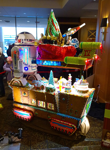 23rd Annual Gingerbread Village Star Wars theme at Seattle Sheraton Episode IV Star Wars