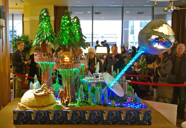 23rd Annual Gingerbread Village Star Wars theme at Seattle Sheraton Episode VI Return Of The Jedi