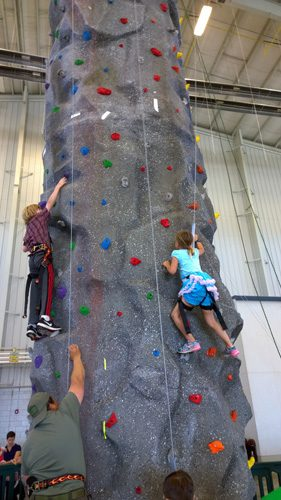 Climbing faux rock wall at Naval Air Station Whidbey Island Open House Oak Harbor