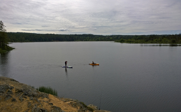 Cranberry Lake in Deception Pass State Park Oak Harbor kayaking and stand up paddle boarding