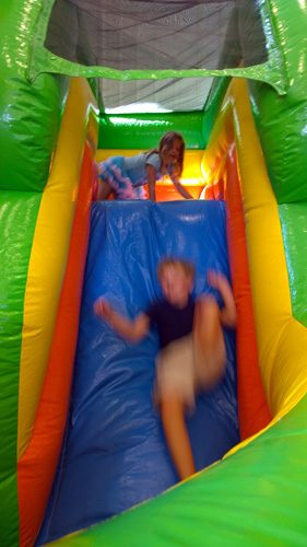 Kids playing in bouncy house at Naval Air Station Whidbey Island Open House Oak Harbor