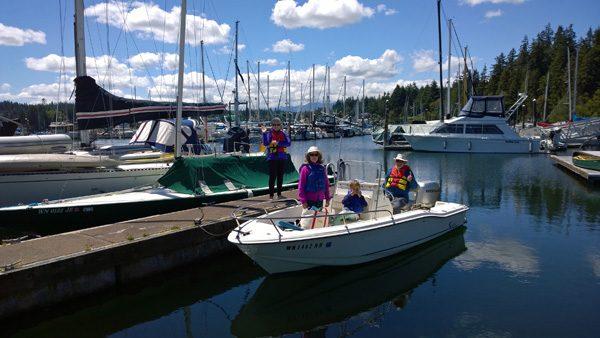 Port Ludlow Marina skiff boat rental