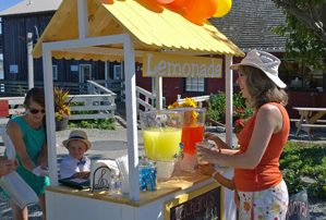 Whidbey Lemonade Day stand by Coupeville Wharf