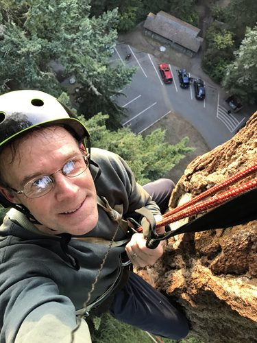 Adventure Terra sunset tree canopy climb Deception Pass State Park 230 foot high selfie