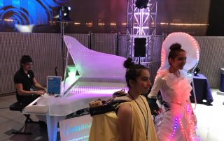 Seattle Mini Maker Faire luminescent piano and electric costumes